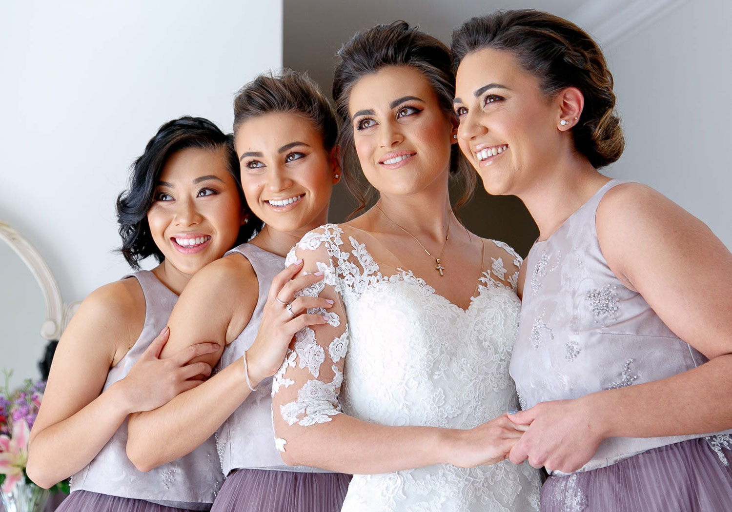 bridal party portrait at The Westcliff Hotel