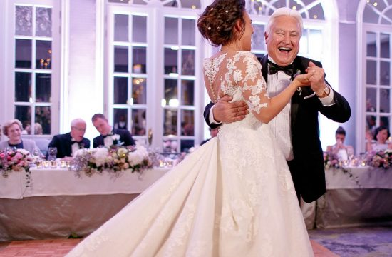 father and daughter first dance at Four Seasons Hotel The Westcliff