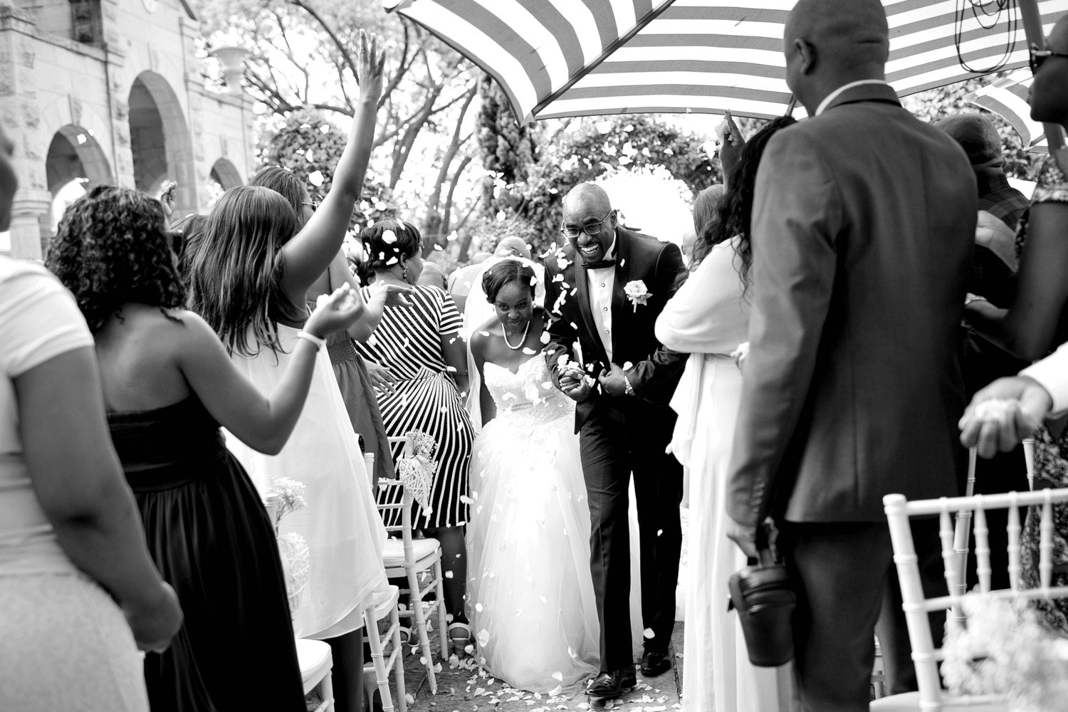 Wedding celebrations at Shepstone Gardens