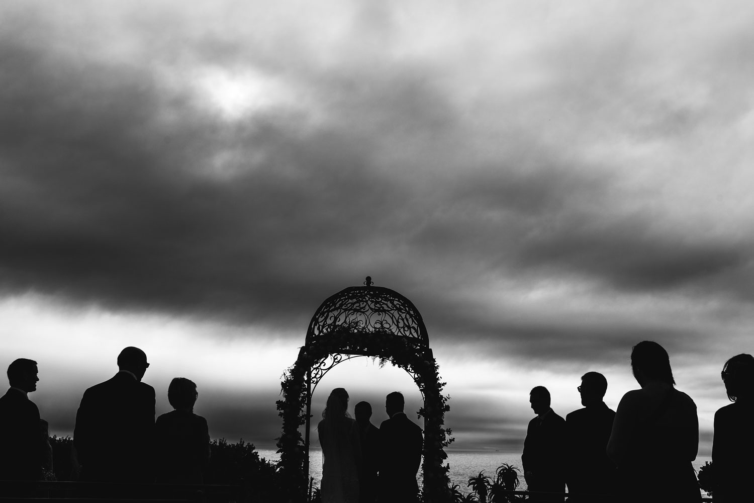 black and white wedding photography in the garden  at the 12 Apostles Hotel