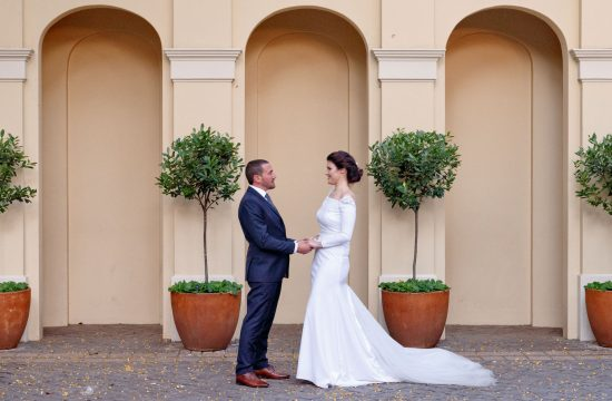 Bride and groom at The Munro Hotel Boutique