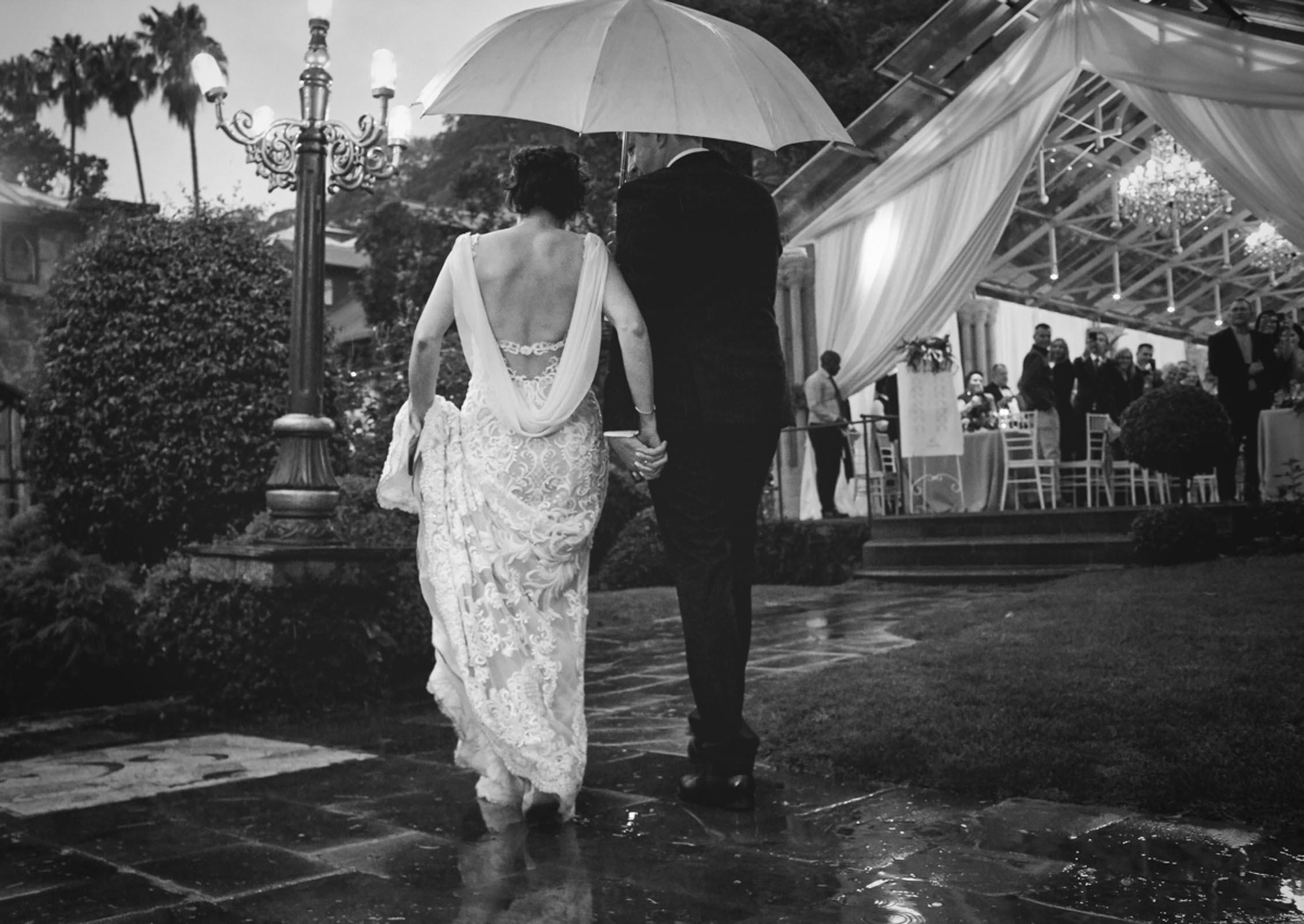 Black and white wedding images at Shepstone Gardens Johannesburg